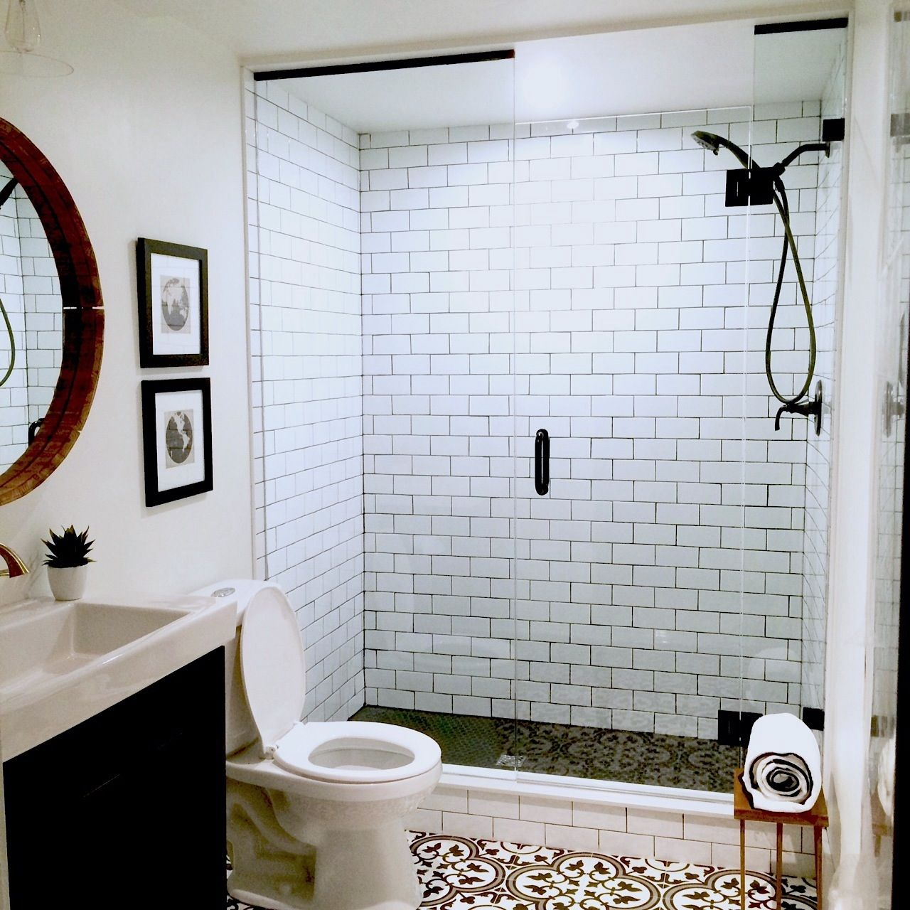 Bathroom Reveal - Gastro-pub Style Bathroom | Gastro pubs, Cement ...
