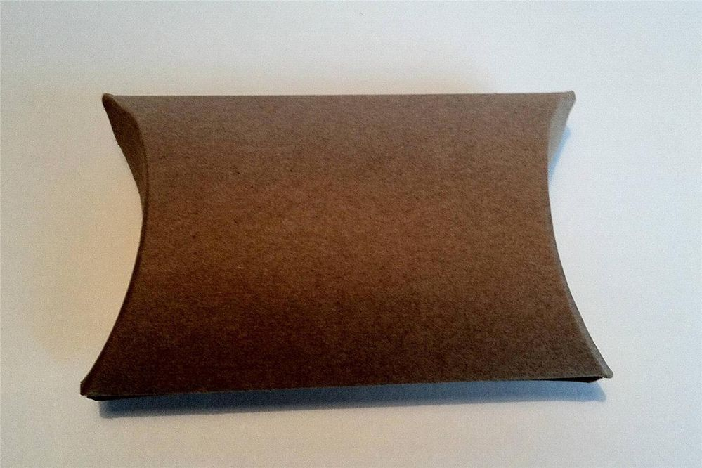 Lot of 12 Kraft Pillow Boxes Gift Wedding Favor Craft Small Size 3 x 3 x 1 inch