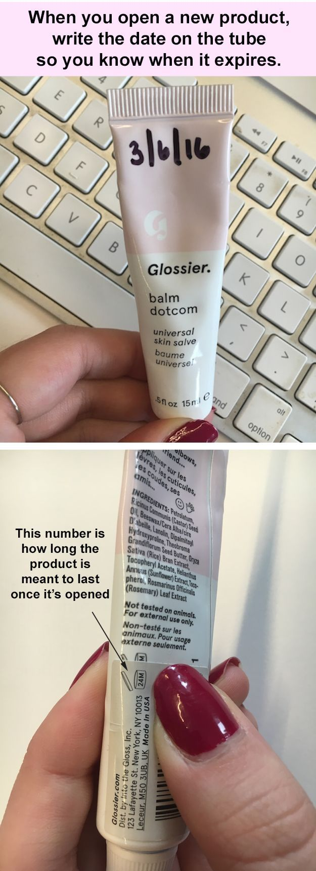 Get the most out of your beauty products by knowing exactly when you opened them#8230; #style #shopping #styles #outfit #pretty #girl #girls #beauty #beautiful #me #cute #stylish #photooftheday #swag #dress #shoes #diy #design #fashion #Makeup