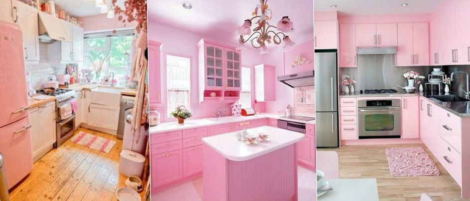 Pink Kitchen Decor 2-delicate pink kitchen interior | pink paint and interiors