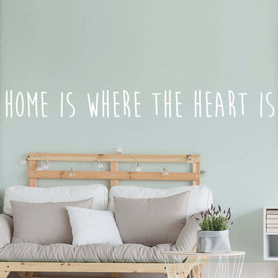 Home is where the heart is muursticker | Woonkamer muurstickers ...