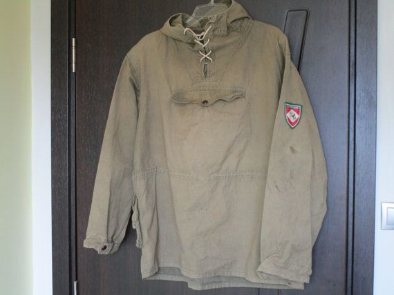 f2df3931d81 ... Vintage Military Green Canvas Anorak on Etsy. Image result for canvas  anorak pullover history