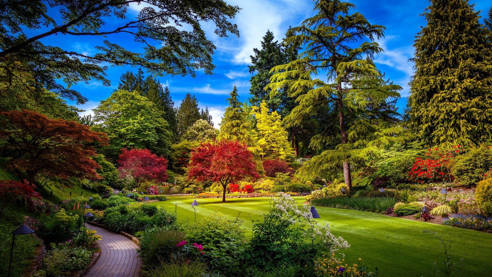 Colorful Park Spring Nature Hd Wallpaper Butchart Gardens Garden Visits Amazing Gardens