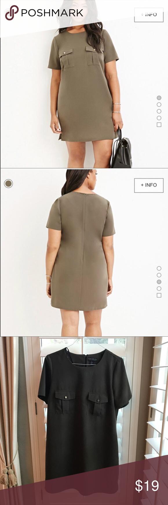 F plus size olive green shirt dress my posh picks pinterest