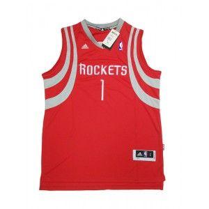 3c53e8d13 Mens Houston Rockets Tracy McGrady Number 1 Jersey Red  http   www.supernbajerseys