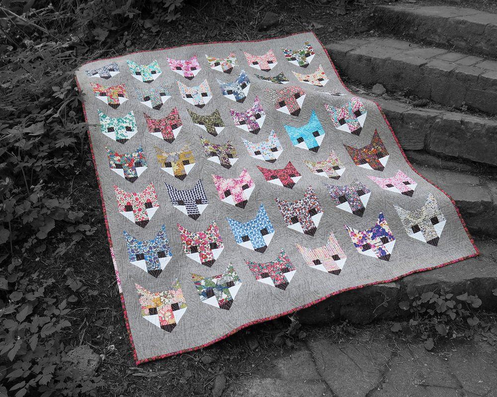 FANCY FOX pdf quilt pattern (With images) Fox quilt, Pdf