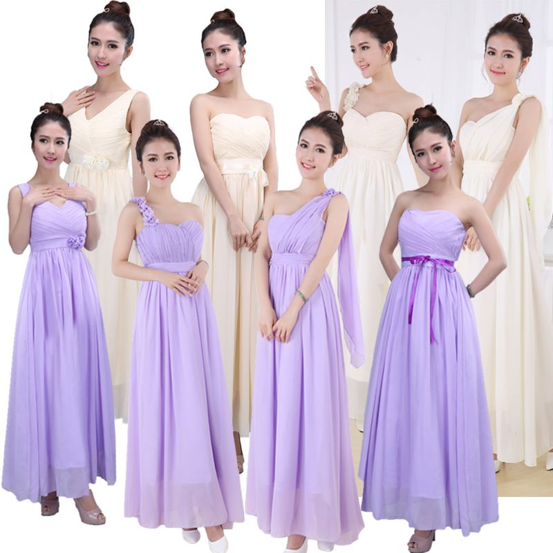 Parent-child outfit bridesmaid dresses long married sister short ...
