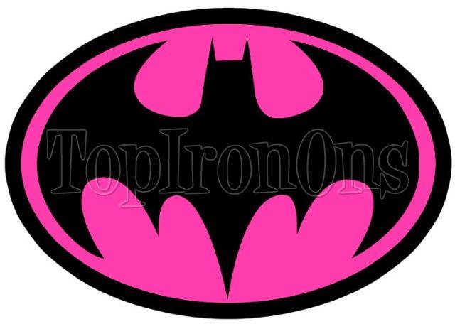 Batman Logo Pink Shirt Iron on Transfer #7 | Superhero ...