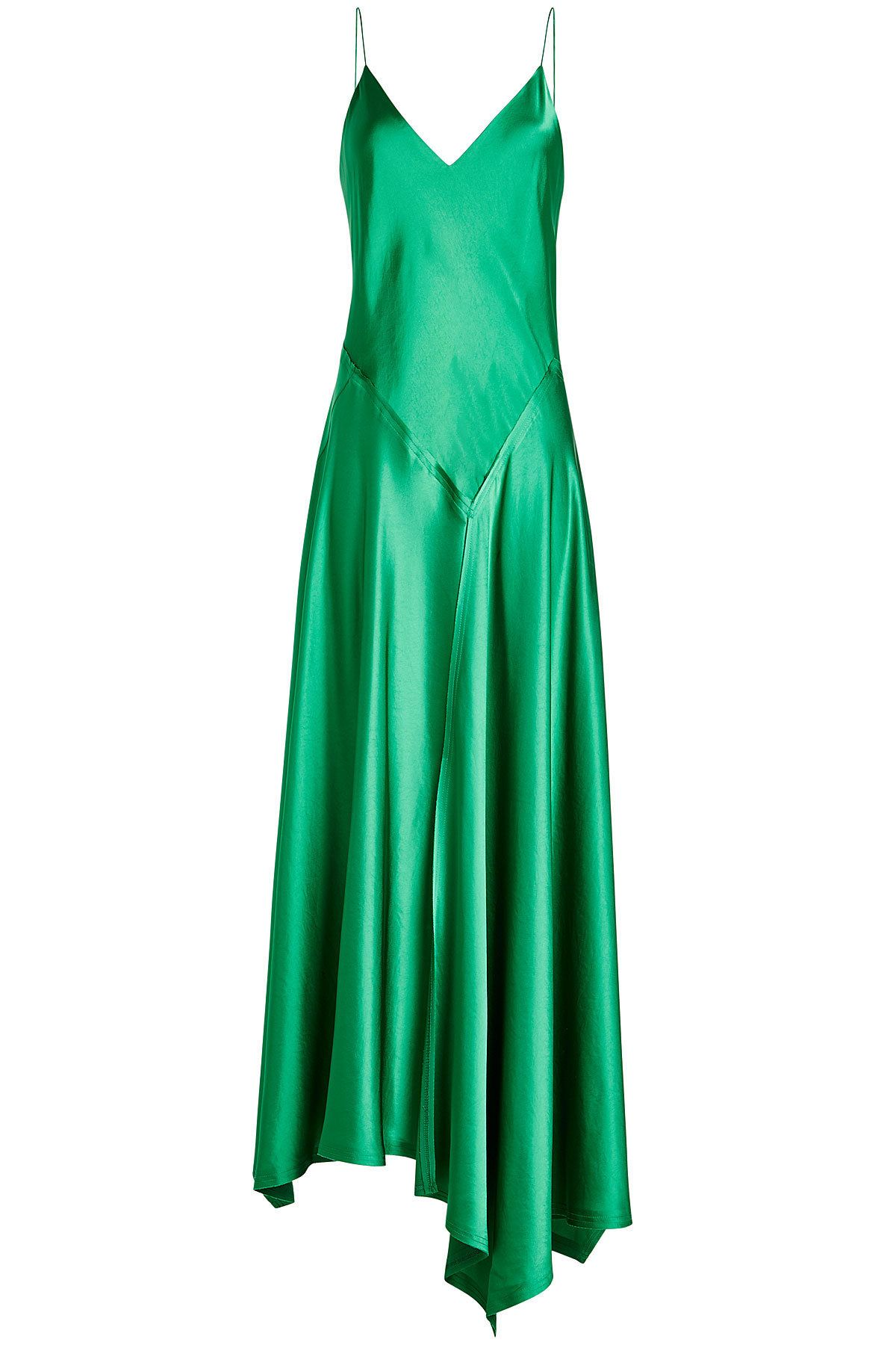 521f9faaa57 DKNY - Satin Dress with Asymmetric Hemline