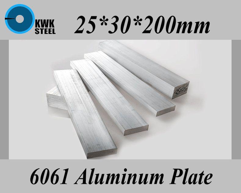 25 30 200mm Aluminum Alloy 6061 Plate Aluminium Sheet Diy Material Free Shipping Diy Materials Aluminium Sheet Aluminium Alloy