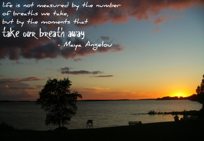 Life Is Not Measured By The Number Of Breaths We Take But By The Unique Life Is Not Measured Quote