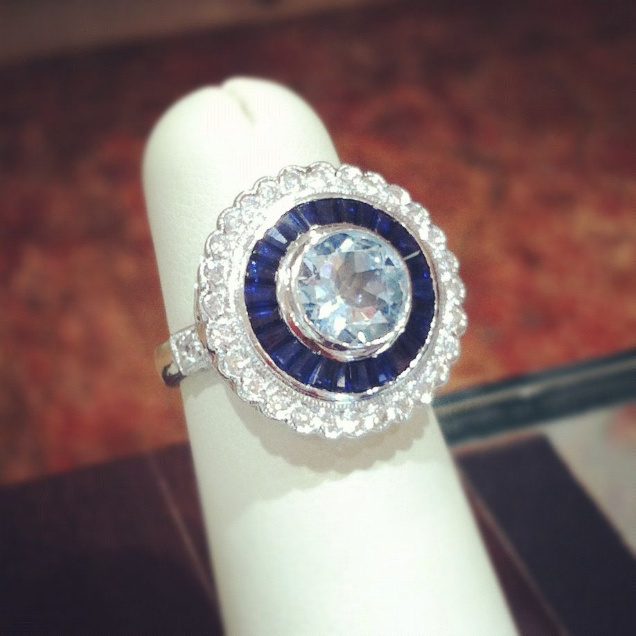 Sapphire u aquamarine cocktail ring find this and many more designs