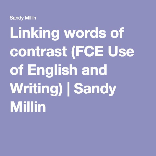 Linking words of contrast (FCE Use of English and Writing) English - best of english letter writing format informal