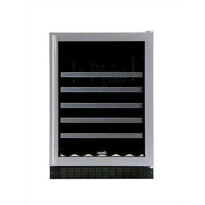 Luxury 45Bottle Wine Refrigerator Door Frame Stainless