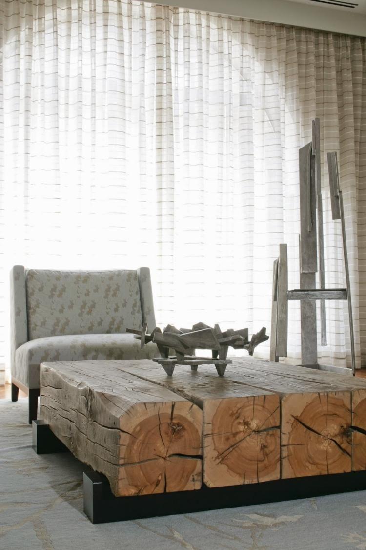 Couchtische aus Massivholz im Wohnzimmer – 50 tolle Ideen