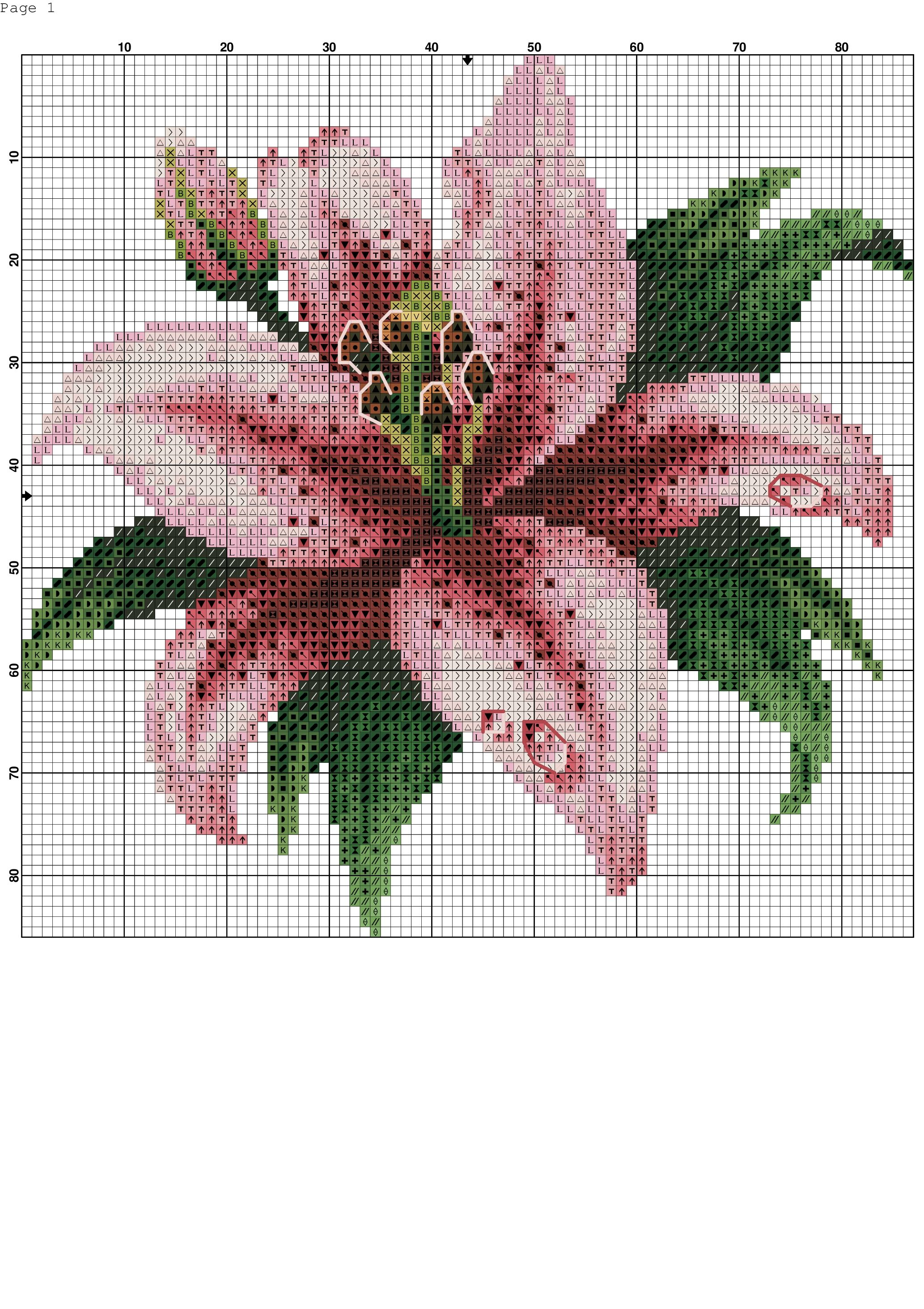 Pin von laura auf flor rosa   Pinterest   Sticken kreuzstich und ...