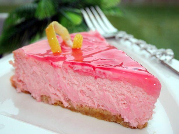 August 20 is Lemonade Day: Pink Lemonade Cheesecake