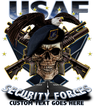 USAF Security Forces Military Shirt 17.76 AIR FORCE