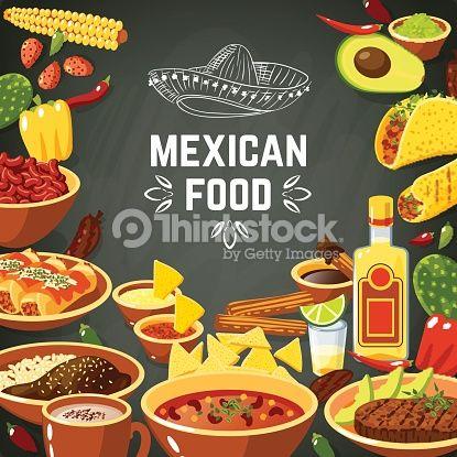 Vektorgrafik : Mexican Food Illustration