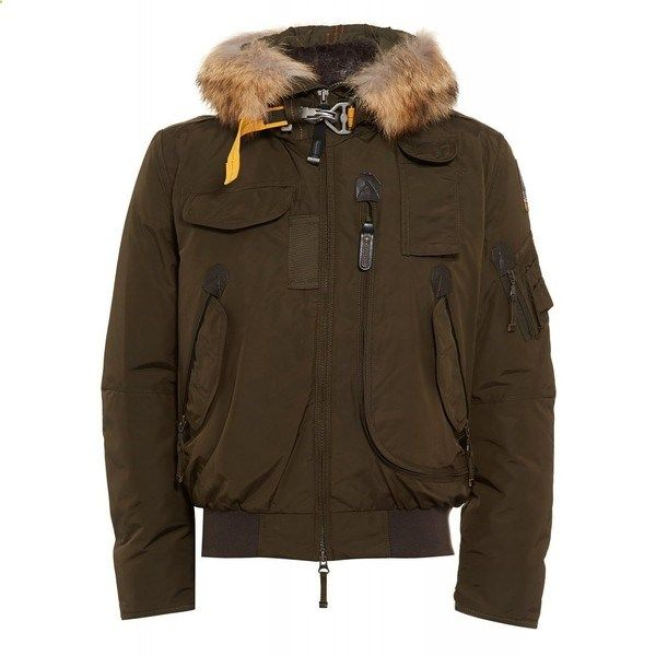 Parajumpers Army Green Masterpiece Gobi Jacket ($885) ❤ liked on Polyvore  featuring mens,