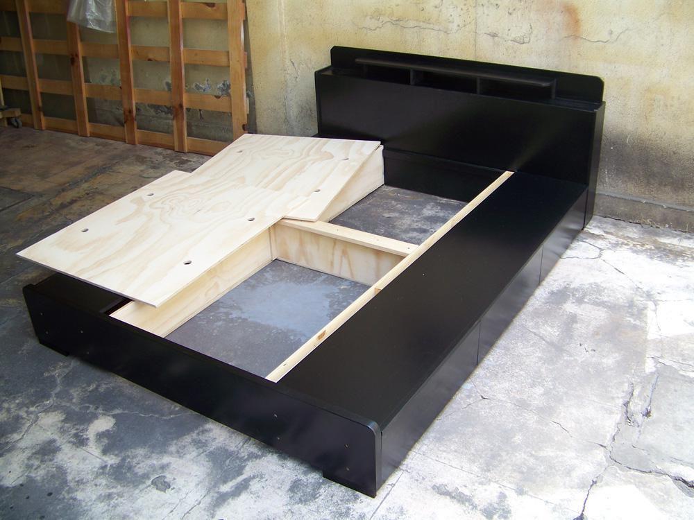 bases para cama matrimoniales todos los tama os minimalistas con cajones desarmables. Black Bedroom Furniture Sets. Home Design Ideas