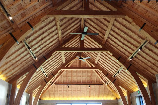 Arched Brace Feature Roof Truss Exposed Decorative Trusses Nelson Nz