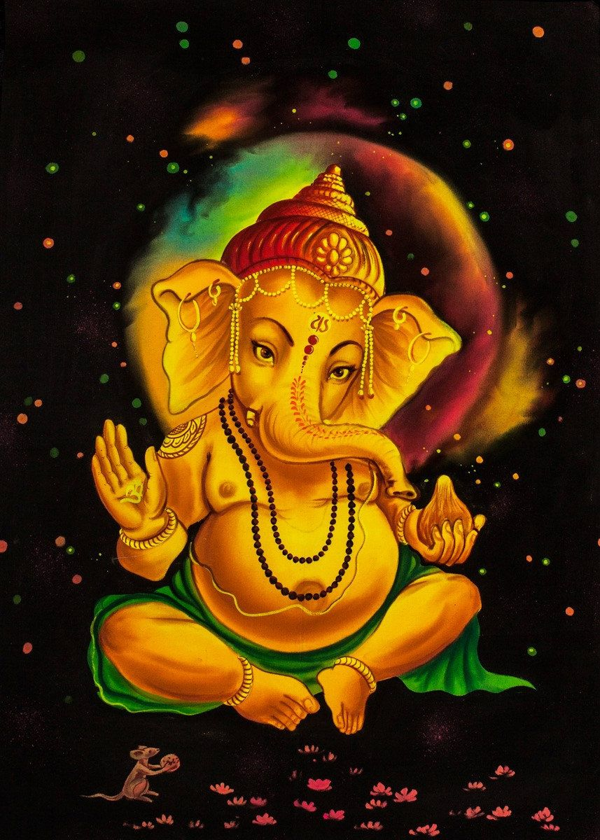 LORD GANESHA Original and Unique Psychedelic by Psientistgifts