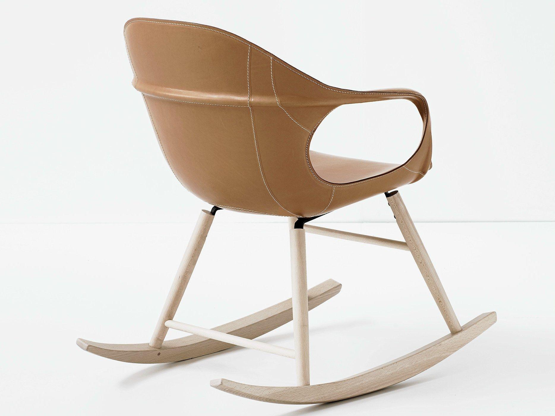 Kristalia Sedie ~ Rocking solid wood chair elephant rocking by kristalia design