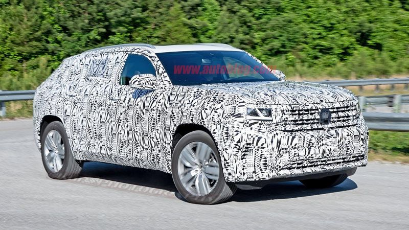 2020 VW Atlas Cross Sport tworow crossover spied Sports