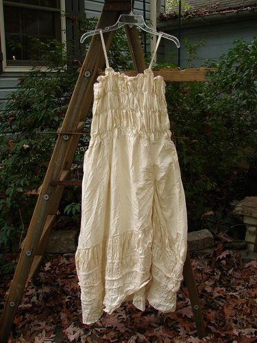 SOLD Magnolia Pearl Crinkle Silk Smocked Long Dress Tiny OSFA - BlueFishFinder