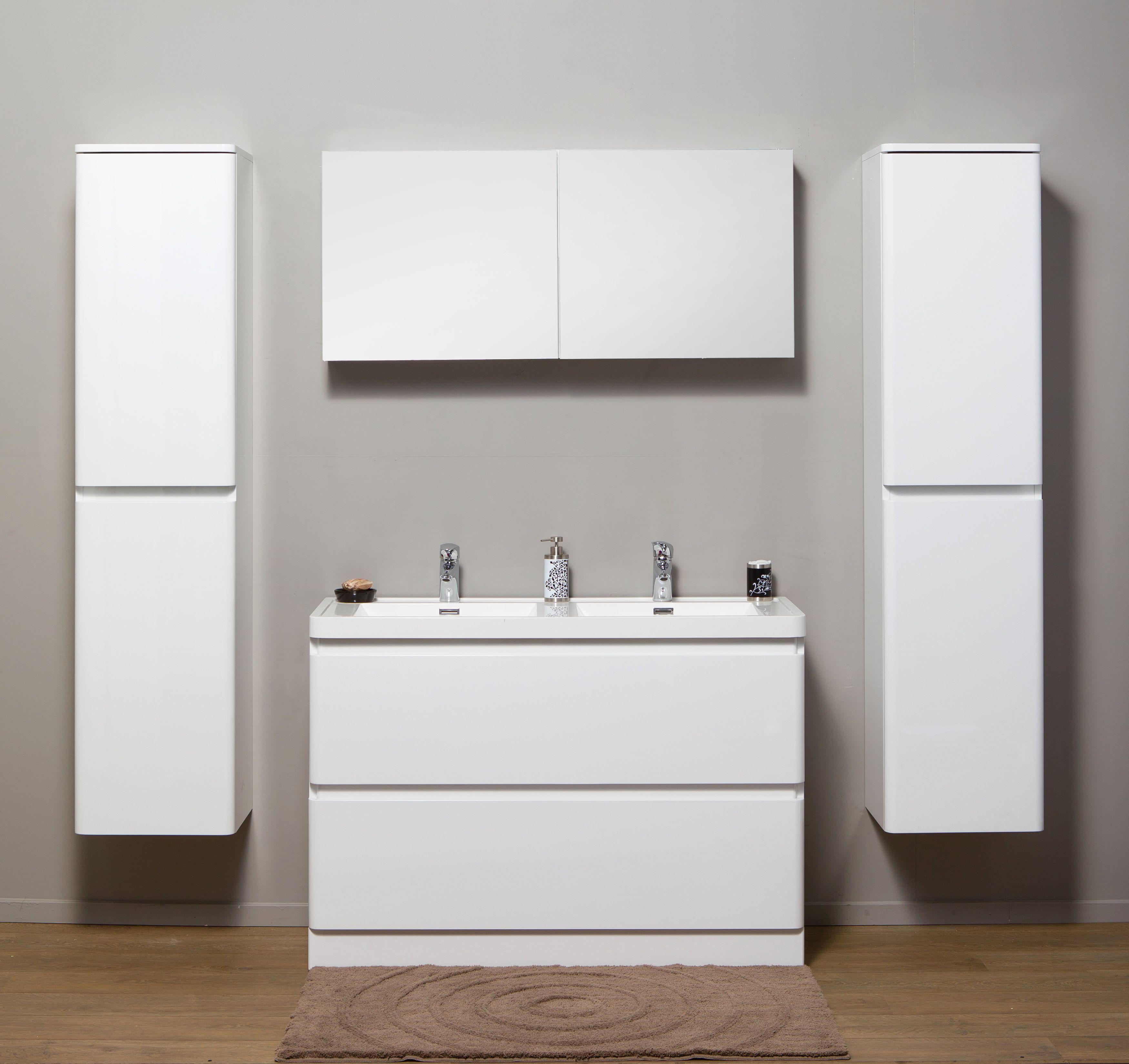 badkamermeubel tess dubbel staand inloopdouche pinterest