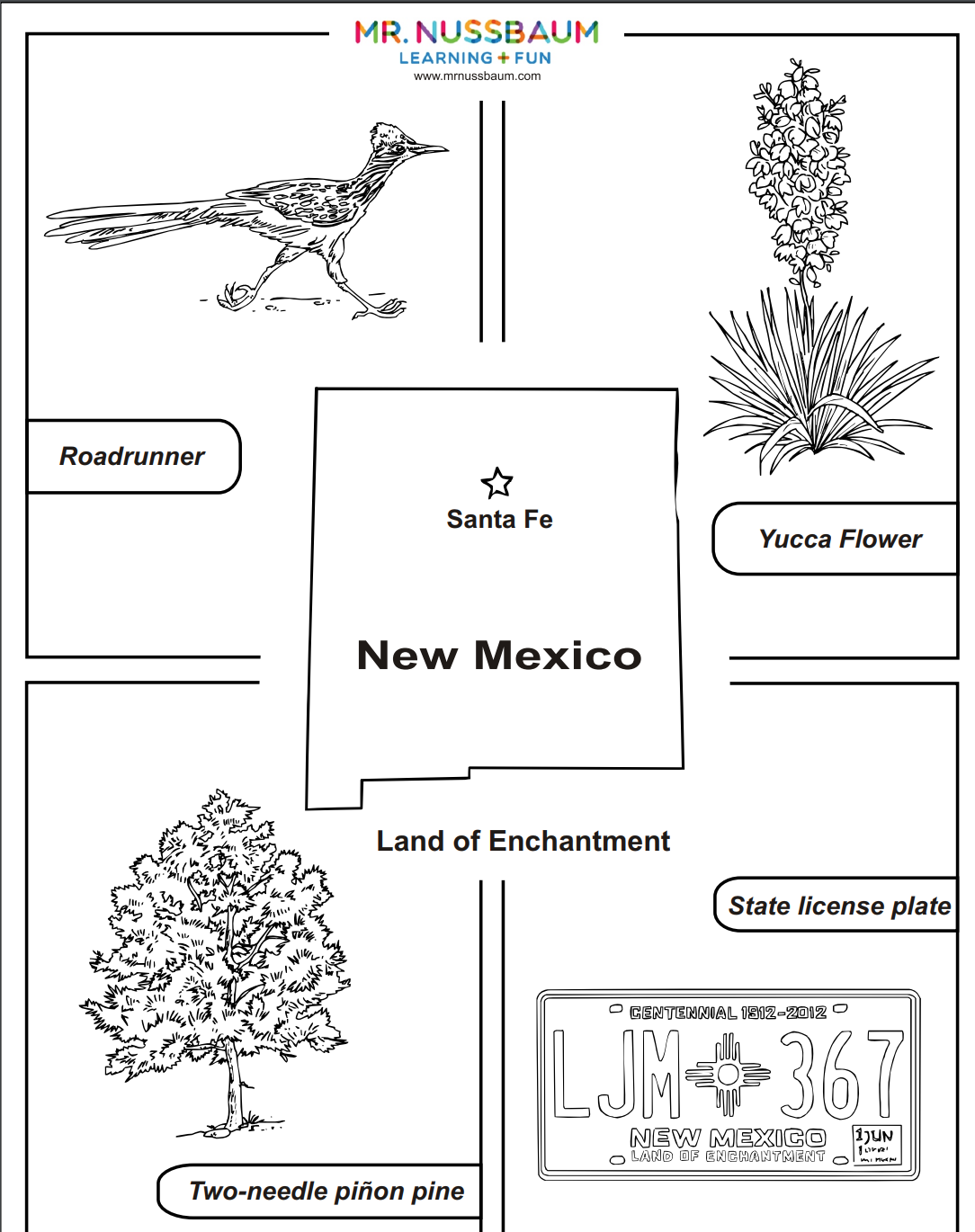 17+ New mexico state flower coloring page HD