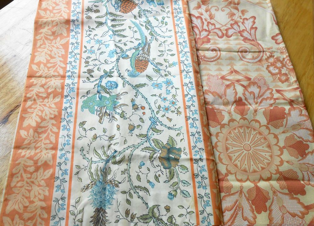 4 FQ - Birds of Paradise and Floral - Upholstery Fabric Bundle