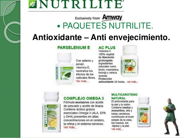 Combo Antioxidante Anti Envejecimiento Nutrilite Amway Health