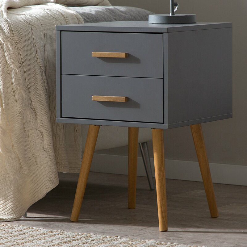 Aarush 2 Drawer Bedside Table In 2020 Bedside Table Decor
