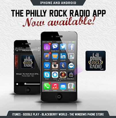 Download our FREE app PHILLY ROCK RADIO where all great apps are downloaded -- For iPhone and Android -- phillyrockradio.com