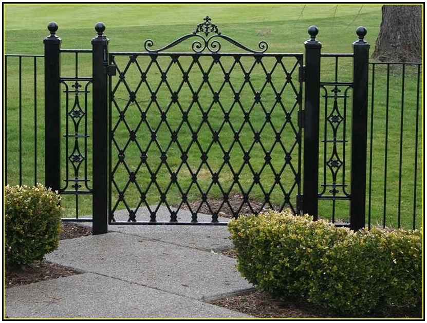 Simple Wrought Iron Gate Designs Iron Fence Gate Iron Garden
