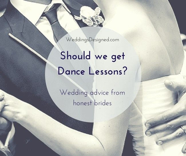 The pros and cons of getting professional dance lessons for your first dance. Read more >>