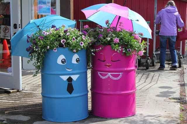 NapadyNavody.sk | 40 skvelých inšpirácii na záhradné kvetináče z recyklovaných materiálov