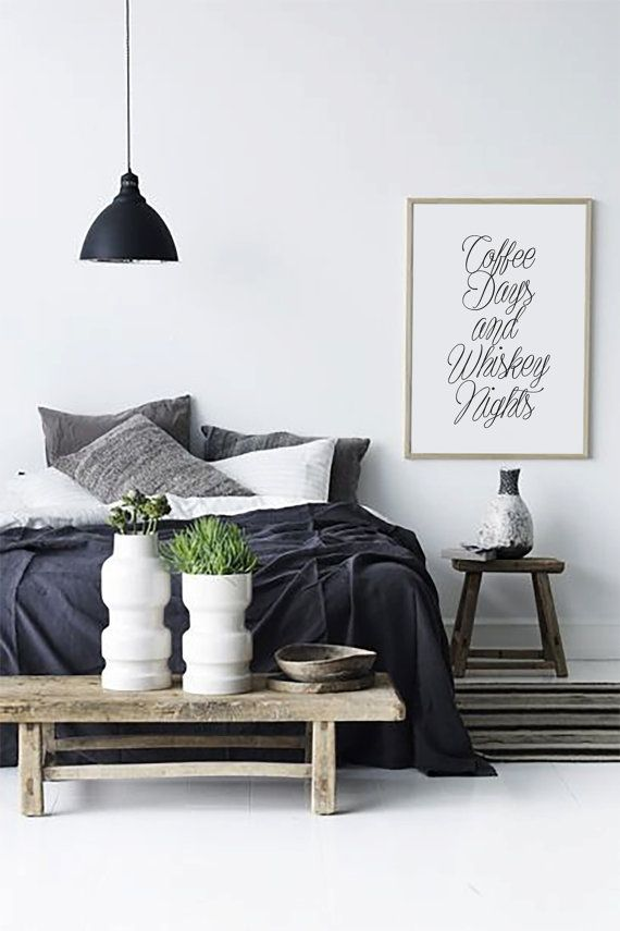 Coffee Days And Whiskey Nights  Typographic decor by HAUSOFPROSE