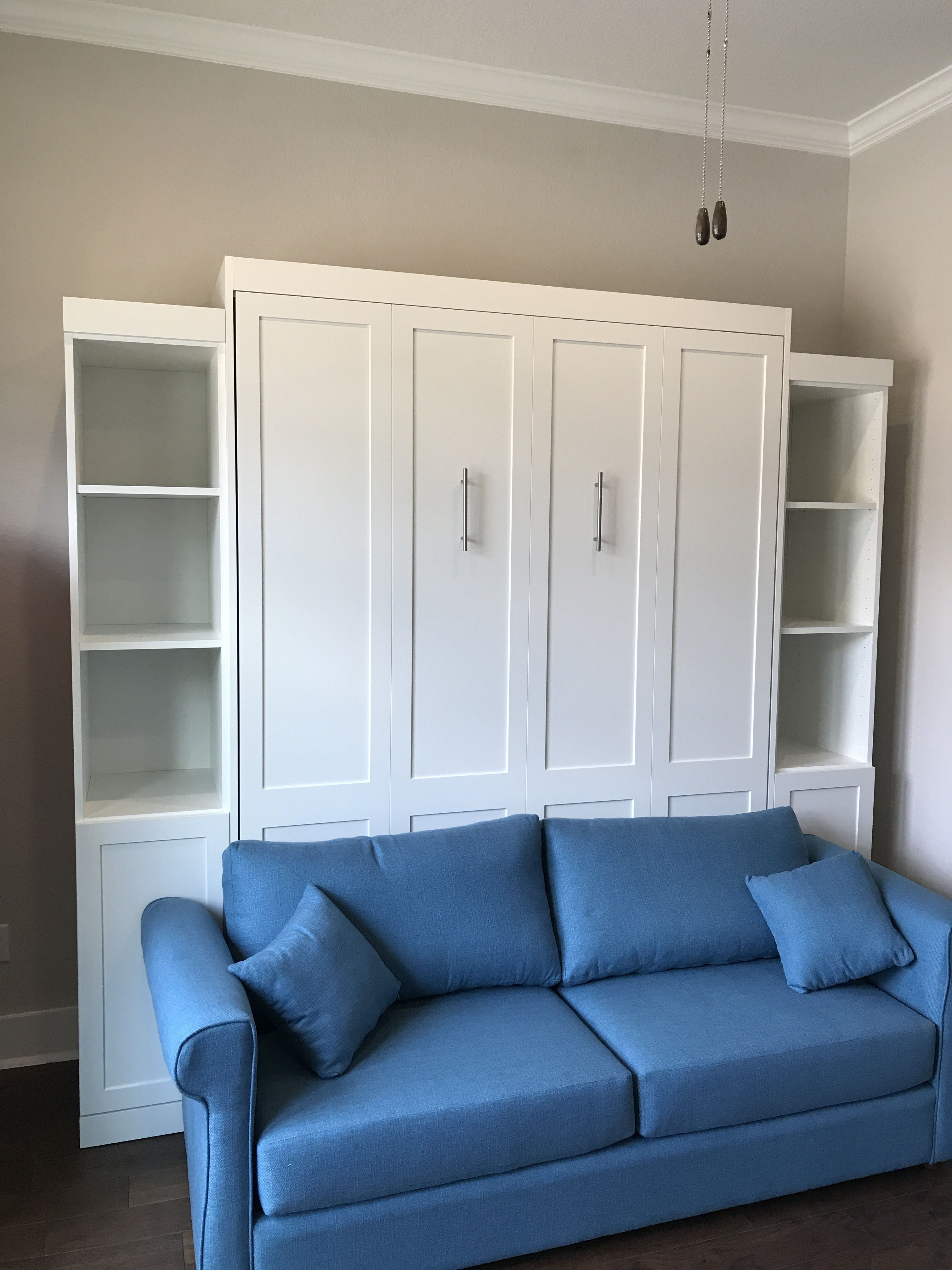 Peachy White Shaker Panel Bed Murphy Bed With Couch Murphy Beds Creativecarmelina Interior Chair Design Creativecarmelinacom