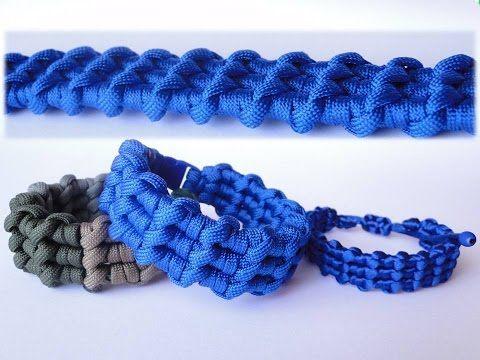 pulseras de hilo ancha   tutorial macrame   frienships bracelets - YouTube