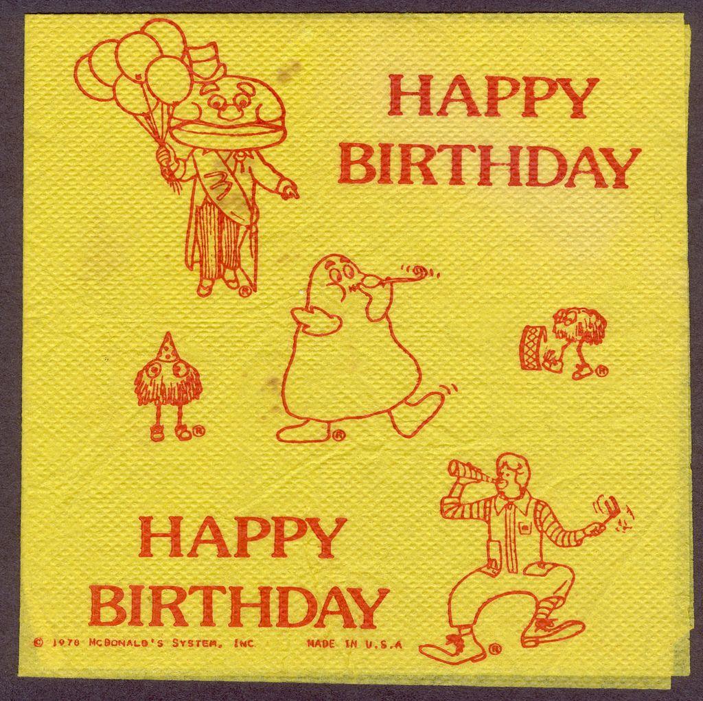 McDonalds Birthday 1978 – Mcdonalds Birthday Party Invitations