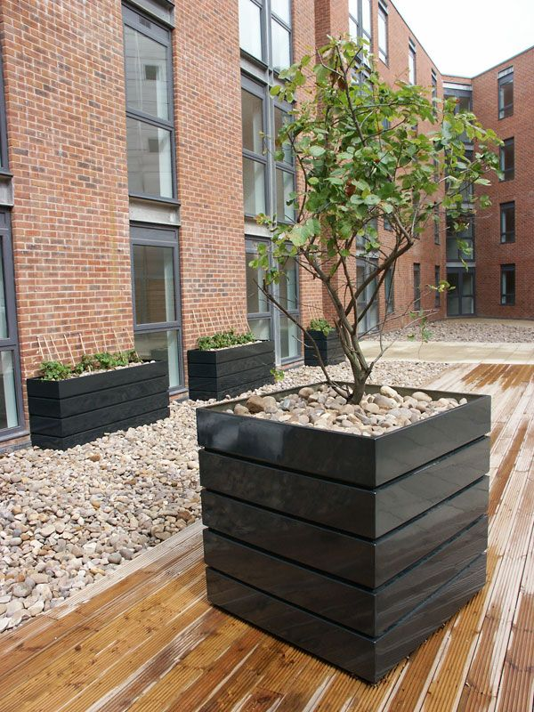 Huge GRP Fibreglass Square Planters in any colour online at