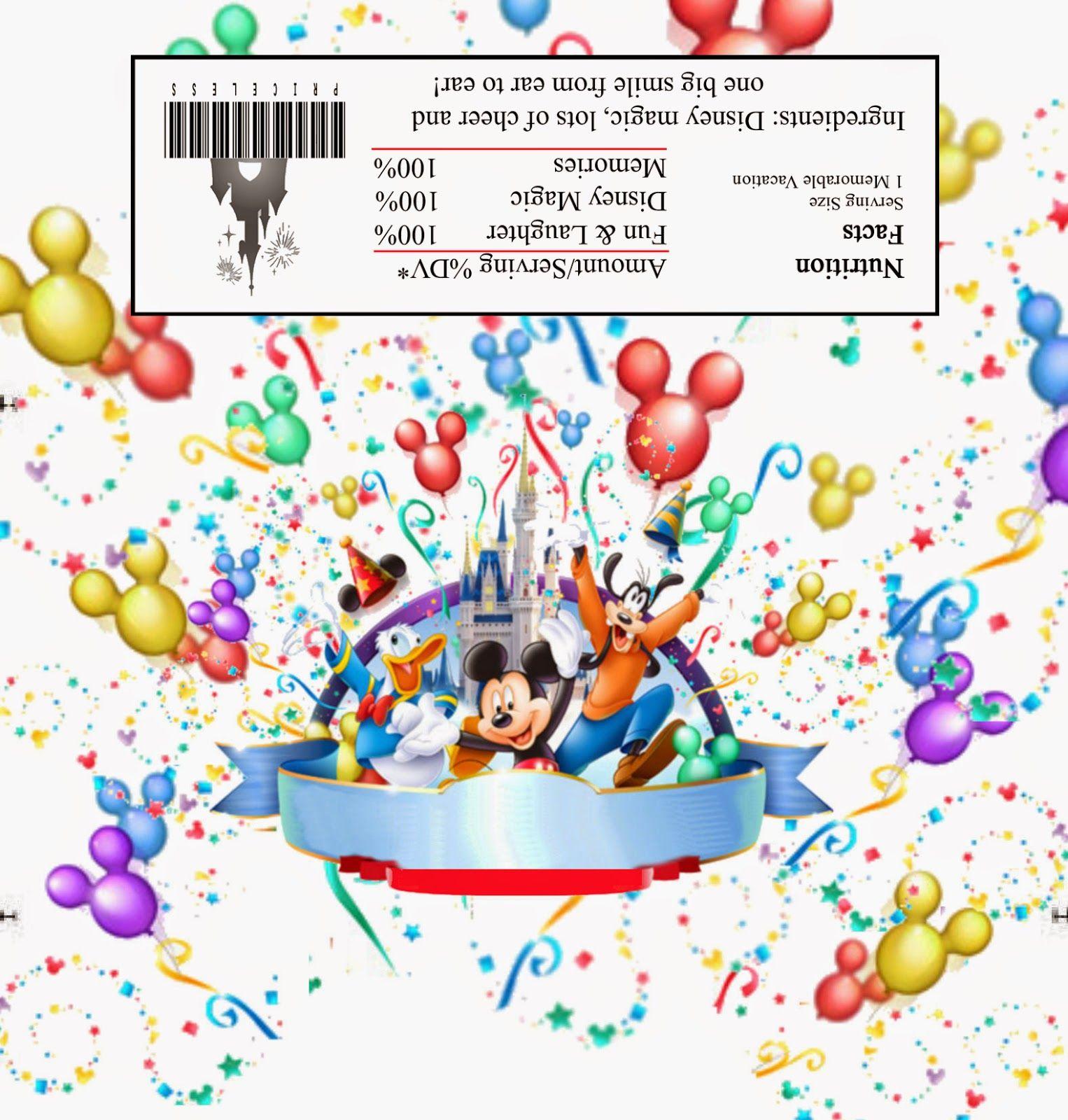 Mickey Mouse y sus Amigos: Etiqueta para Chocolates para Imprimir ...