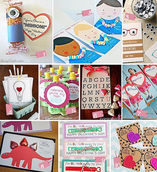 Top 10 Thursdays: Creative Valentine Card Ideas ... http://thegiftingexperts.com/top-10-thursdays-kids-valentine-ideas/