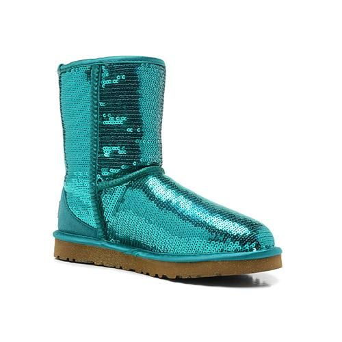 2013 NEW Uggs Women Classic Short Sparkles 3161 Green