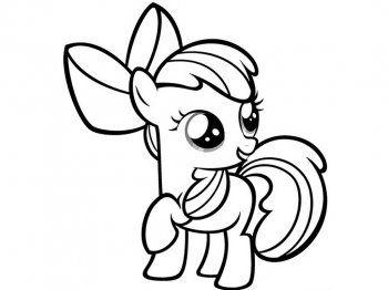 Мой маленький пони. Раскраски | Раскраски, Легкие рисунки ...