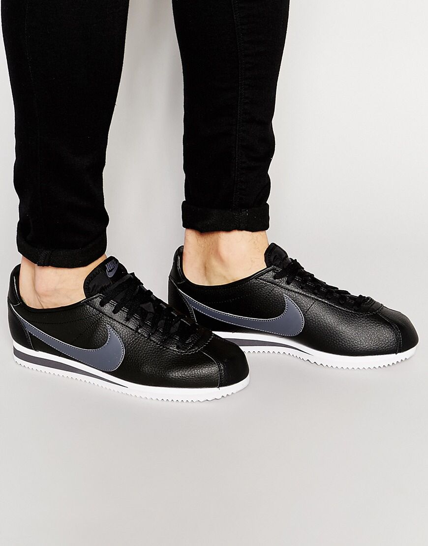 cheaper 222f8 d1a72 Nike Cortez Leather Trainers 749571-011   Footwear   Pinterest