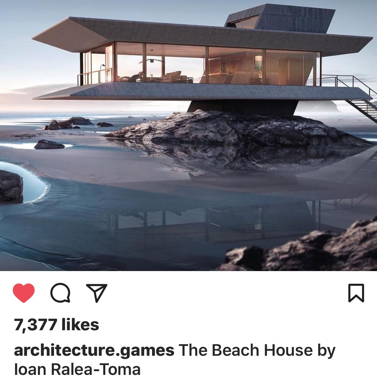 Architecture Games On Instagram: U201cThe Beach House By Ioan Ralea Toma 📍 Tag  Your Friends Follow @architecture.games #architecturegames #arc  #architecture ...